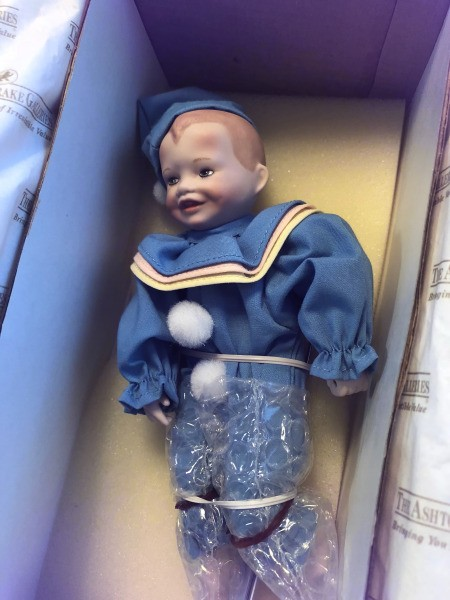 Value of 10th Anniversary Picture Perfect Babies - boy in sailor suit in box