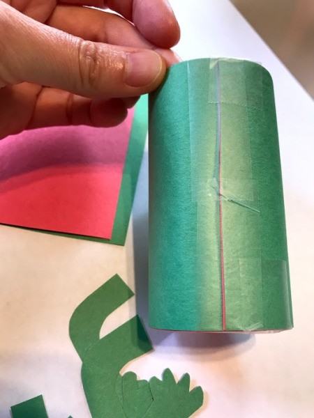Frog and Fly Catcher Game - taping paper roll