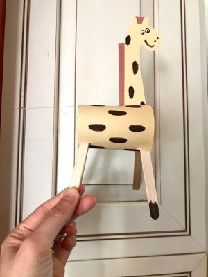 Standing Giraffe Toy - finished toy