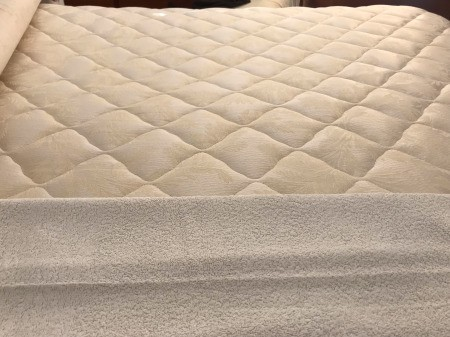 A mattress with sagging sections.