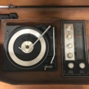 Value of a Vintage Garrard Stereo Console - inside of console, turntable and radio