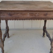 Identifying a Old Wooden Table - old unfinished wood table
