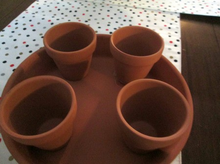 Terra Cotta Turtle Planter - glue small pots to inside of 8 inch saucer