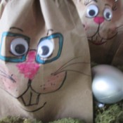 Making Bunny Bag Favors