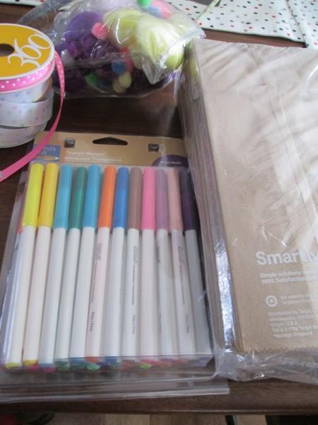 Making Bunny Bag Favors - supplies