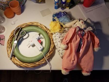 Bunny Wreath - supplies