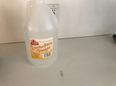 How to Clean Your Keurig - bottle of vinegar