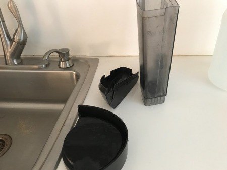 How to Clean Your Keurig - wash and dry water reservoir, lid, and base cup sits on