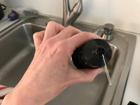 How to Clean Your Keurig - clean holes in K-cup with a paperclip