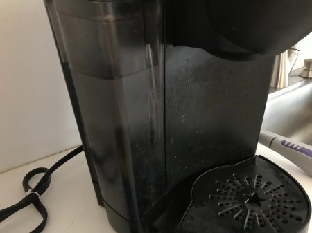 How to Clean Your Keurig - fill with vinegar and brew a cup