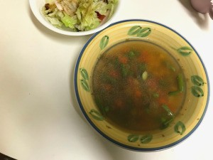 bowls of soup & salad