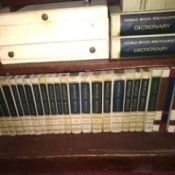 Value of a 1964 World Book Encyclopedia Set - white leather covered encyclopedias