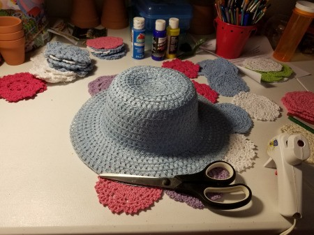 Spring Hat and Butterfly Door Hanging - supplies