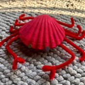 Making a Crab from a Scallop Shell - scallop shell crab