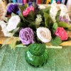 Crocheted Doily Roses - final arrangement
