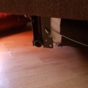 Repairing a Bracket on a Simmons Sofa Sleeper - broken bracket