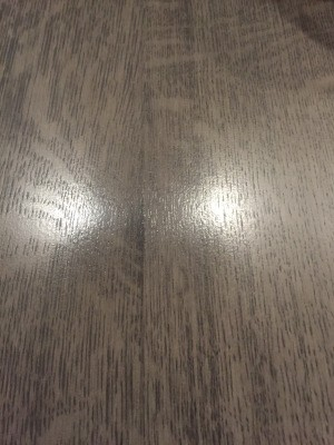 Guardsman Watermark Remover Left a Shiny on Furniture - coffee table