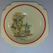 Value of of Homer Laughlin Dishes - plate with  southwest motif