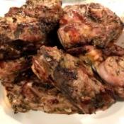 finished Grilled Lamb Shoulder Steaks