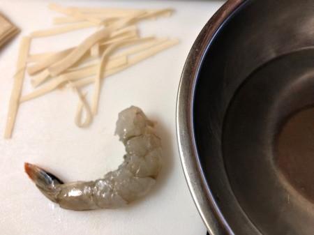Wonton strips & Shrimp