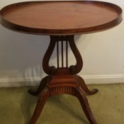 Value of a Mersman Lyre Accent Table