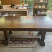 Age and Value of an Old Derby Desk Co. Table/Desk