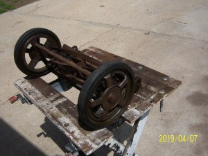 Identifying an Old Reel Mower - old mower without the handle