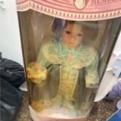 Value of a Collectible Memories Porcelain Doll - doll in box
