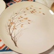 Value of Homer Laughlin Dinnerware - fall tree with colored leaves pattern