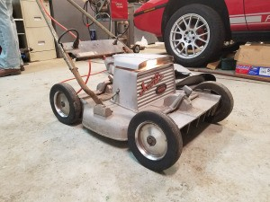 Value and Info of a Scott's Electric Lawn Mower - aluminum colored vintage electric mower