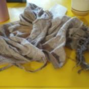 Restoring a Childhood Blanket - very old worn blanket
