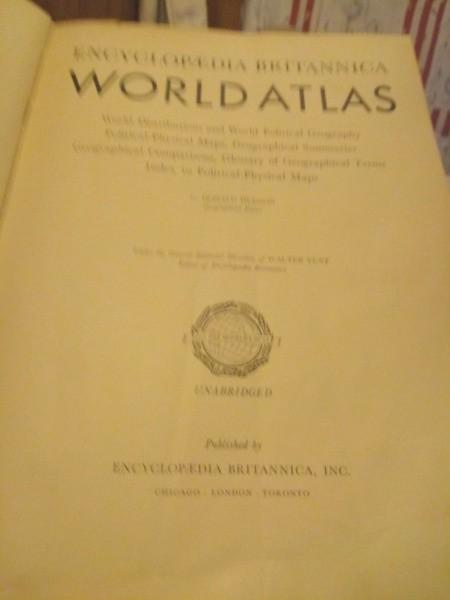 Value of Encyclopedia Britannica World Atlas