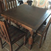 Identifying an Antique Dining Table and Chairs