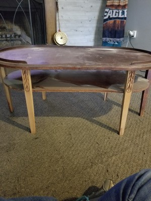 Value of a Mersman Table 7585 - oval coffee table with a lower shelf