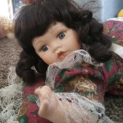 Identifying a Porcelain Doll - doll lying on stomach