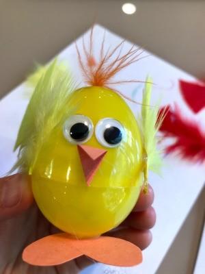 Plastic Egg Baby Chicks  - yellow chick