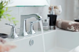 Bathroom sink faucet.