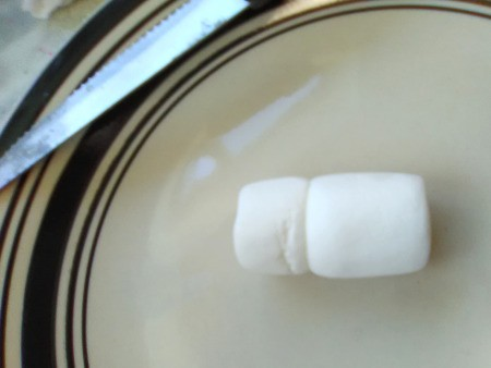 Marshmallow Peepsters - stick one half to a whole one