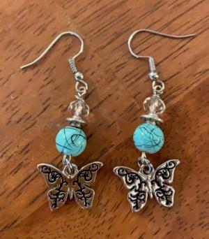 Handmade Earring Business Name Ideas - silver butterfly earrings