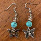 Handmade Earring Business Name Ideas - silver butterfly earrings