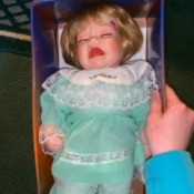 Value of an Ashley Belle Porcelain Doll - crying baby doll