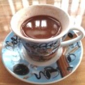 Homemade Hot Chocolate in cup