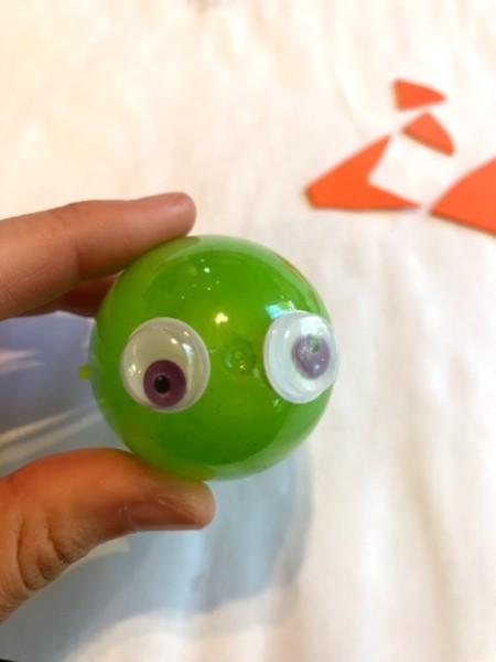 Baby Shark from Easter Egg - glue on google eyes
