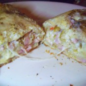 Mozerella Ham Swirl Bread
