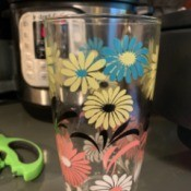 Identifying Vintage Drinking Glasses - glasses with multicolored flowers