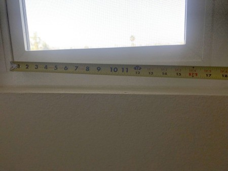 DIY Privacy Screen for Windows - measure across the bottom