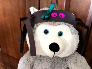 Paper Spider Hat  - bear wearing hat