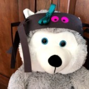Paper Spider Hat  - bear wearing hat