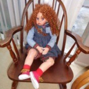 Identifying a Porcelain Doll - red headed doll wearing red sneakers