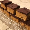 No-Bake Chocolate Peanut Butter Squares on plate